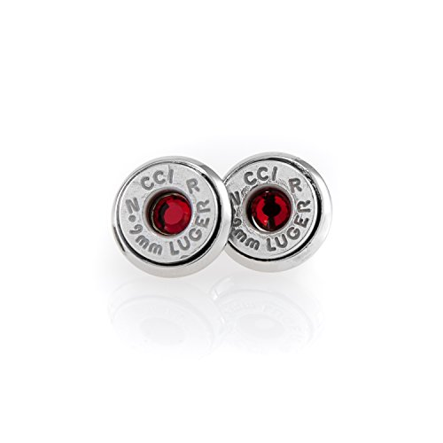 9mm bullet stud earrings - 7