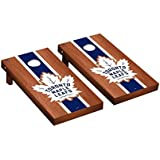 Victory Tailgate Toronto Maple Leafs NHL Regulation Cornhole Game Set Rosewood Stained Stripe Version