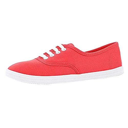 Shusuen Women Canvas Sneaker Women's Marley Sneakers Watermelon Red 36' Knee Length Lab Coat