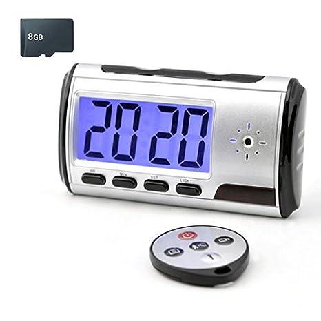 Mengshen Despertador portátil espía cámara ocultada DVR con detección de Movimiento (Tarjeta TF no incluida) Videocámara MS-V001: Amazon.es: Bricolaje y ...