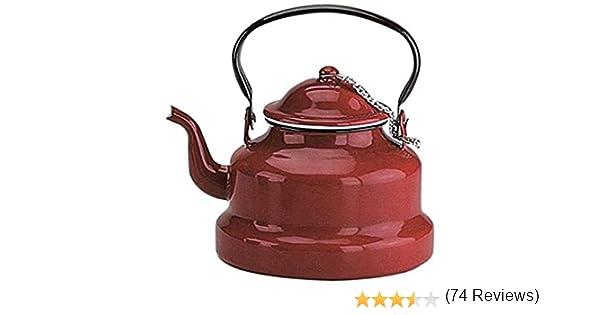 IBILI Cafetera pava, Acero esmaltado, Rojo, 20 cm, 640: Amazon.es ...