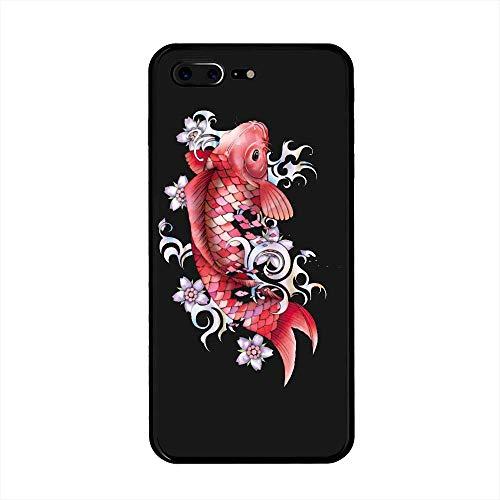iPhone 7 Plus/iPhone 8 Plus Case, Garnet Koi Fish TPU Customization for iPhone 7 Plus/iPhone 8 Plus 5.5 inch Protective Shell