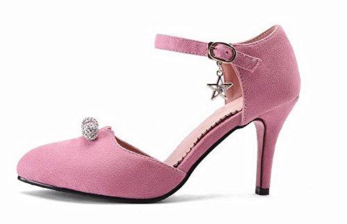 Donna Sandali Fibbia Voguezone009 Rosa Plastica Puro Tacco Ccallp012954 Chiusa Alto Punta qRPw7Pp