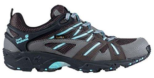 Jack Wolfskin Schuh Accelerate Frauen, schwarz/grau/blau, 42