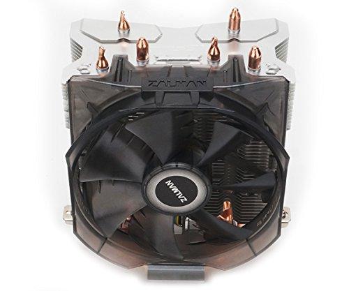 Zalman CPU Cooler with Direct Tough Heatpipe Base and Shark Fin Fan Cooling, Silver, (CNPS8X Optima) by Zalman (Image #3)