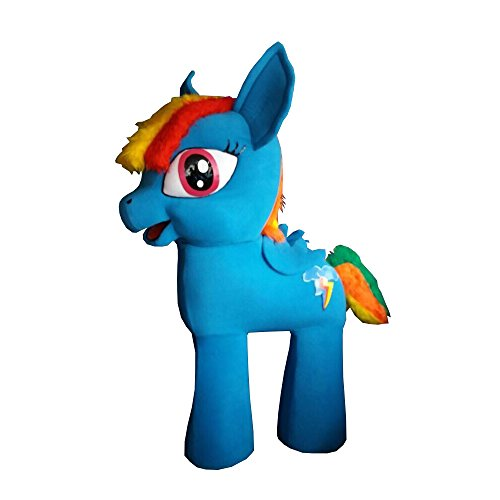 My Little Pony Rainbow Dash Mascot Party Costume Light Blue Character Halloween -