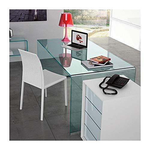 Hogar Decora Mesa Escritorio Cristal Templado 150CM X 80CM: Amazon ...