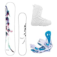 Camp Seven Dreamcatcher and Lux Women's Snowboard Package by Camp Seven