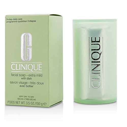 CLINIQUE by Clinique Facial Soap -Extra Mild ( With Dish )--100g/3.5oz for WOMEN ---(Package Of 3)