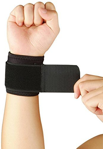 Heirloom Quality Adjustable Wrist Support Breathable Neoprene Wrist Strap Compression Pad for Men and Women Working Out Wrist Pain Sprain Tendonitis, One Size ()