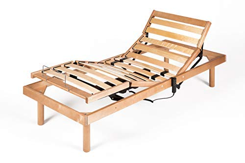 motorizado Mobili Fiver Somier de Listones para una Plaza 190 x 80 x 36 cm
