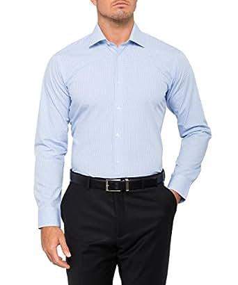 Calvin Klein Men's Slim Fit Check Shirt, Classic Blue, 38