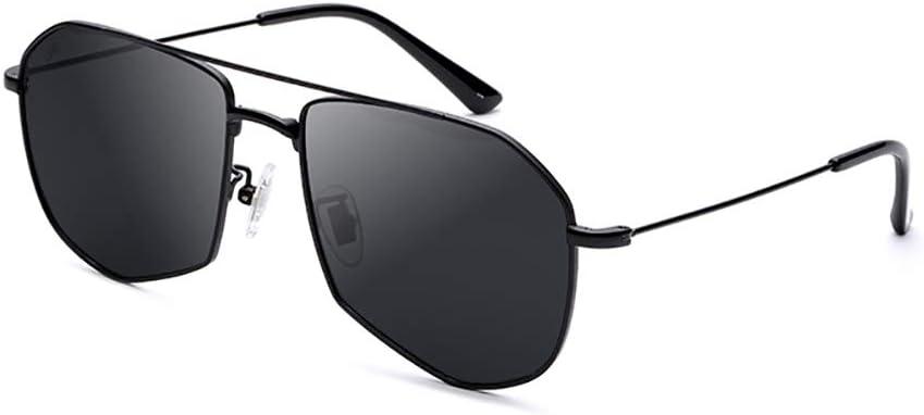 AHAQ Gafas de Sol de Moda, polarizador Neutro, protección UV, Adecuado para Conducir, Pescar, Esquiar,Negro