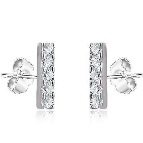 Mini Bar Stud Earrings in Sterling Silver 14K Gold Plating