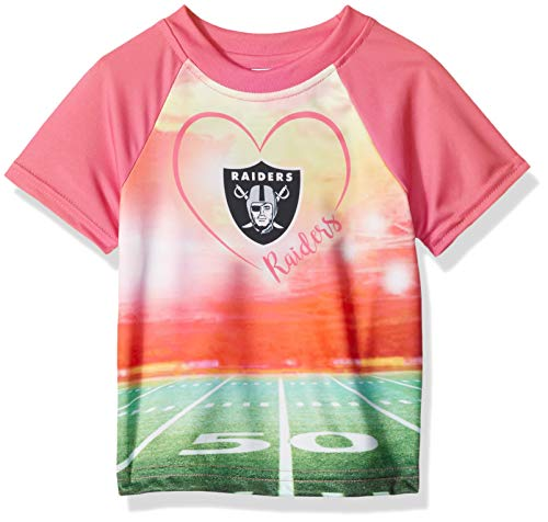 NFL Oakland Raiders Baby-Girls Short-Sleeve Tee, Pink, 18 Months