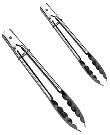 12 Inch and 9 Inch Stainless Steel Tongs Update International LR Tong