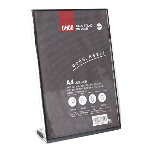 UHOO Slant Back Acrylic Sign Holder, 8.58 x 12.2Inches Economy Portrait Ad Frames, Perfect for Home, Office, Store, Restaraunt.