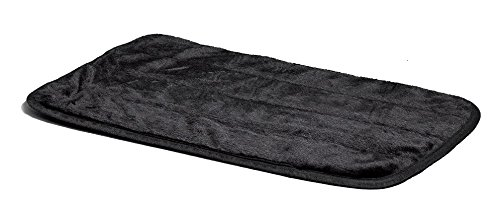 MidWest Quiet Time Pet Bed Deluxe Black Fur Pet Mat 43