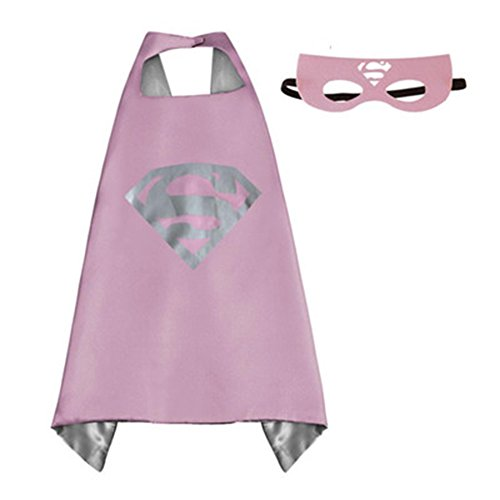 [Athena DC Superheroes Adult Size - Supergirl Logo Cape and Mask Gift Box Included] (Athena Adult Costumes)