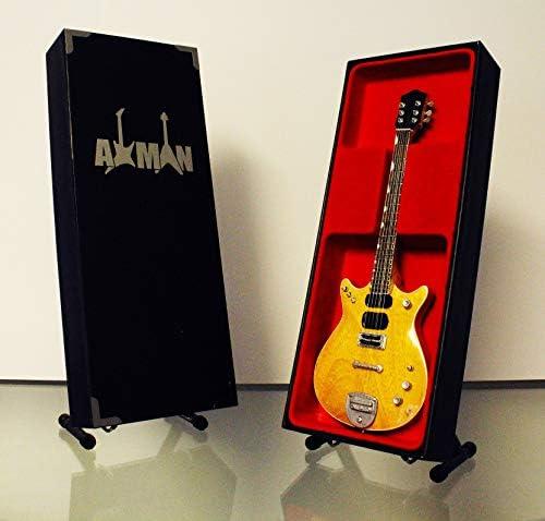Malcolm Young (AC/DC) Réplica de guitarra en miniatura con estuche y soporte: Amazon.es: Instrumentos musicales