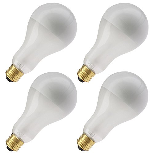 Industrial Performance 150PS25/SBIF 130V, 150 Watt, PS25, Medium Screw (E26) Base Frosted Silver Bowl Light Bulb (4 Bulbs)