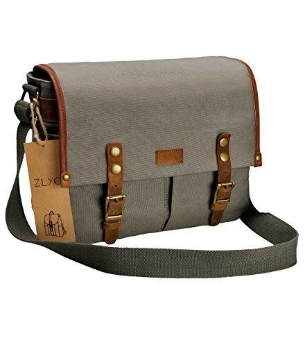 ZLYC Leather Waterproof Messenger Shoulder product image