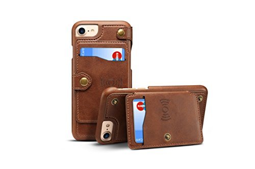 Iphone 6S 7 8 Cover Leather Tacoo Zipper Credit Card Business Card Holder Money Slot Slim Soft Fashion Removable Protective Wallet Phone Case Shell For Apple Iphone 6 6S 7 8