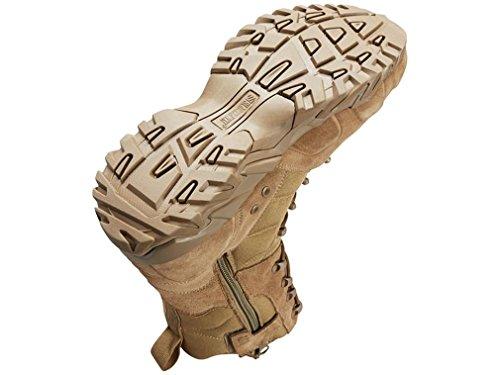 Zwarte Havik! Street 8 Side Zip Tactische Laarzen Lederen / Nylon Coyote
