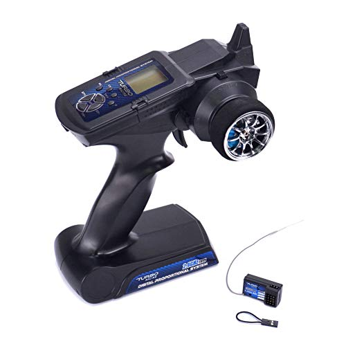 Readytosky Turbo Racing 90700G 2.4GHz 3CH Radio Remote Controller Transmitter with Receiver LCD Display for RC Car Boat PK TG3 FS - GT3B ()