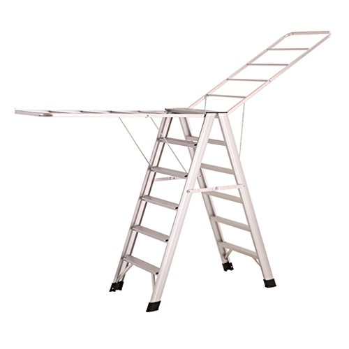 Step Ladder For Heavy Duty 6 Step, Aluminum Alloy Drying Rac
