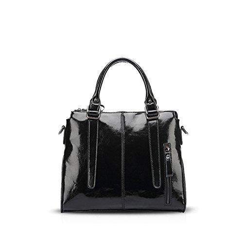 NICOLE&DORIS Elegante Bolsos de Mano para Mujer Monederos Pequeña Bolso Crossbody Mujer Bolso de Bandolera Grande PU Marrón Negro