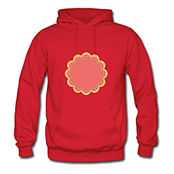 Flower Doily Background Style Personality Hoodies Red X-large Red Mabelbennett Print
