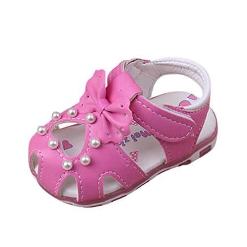 IGEMY Kleinkind Mädchen Sandale - Mode Perle Bowknot Kinder Freizeitschuhe Pink