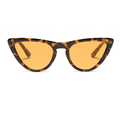 Retro C2 Bisagra para Moda sol Enorme Lente Mujer Color UV400 Estilo de Escoger Marco 8 Ámbar Gafas Gafas Amarillo Rock gato de primavera de Ojo Hzjundasi aPwFP