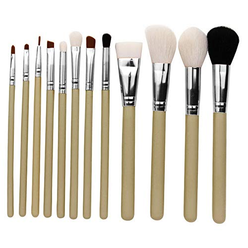 Kaputar 12pcs Professional Make up Brush Set Foundation Blusher Concealer Eyeshadow Tool | Model MKPBRSH - 1968 | 12PCS Grey-green ()
