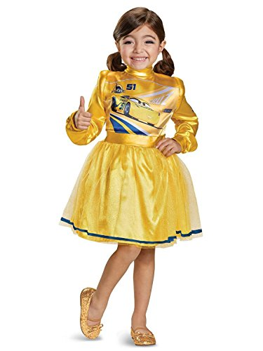 Deluxe Cars Costume - Cars 3 Cruz Deluxe Toddler Costume, Yellow, Large (4-6X)