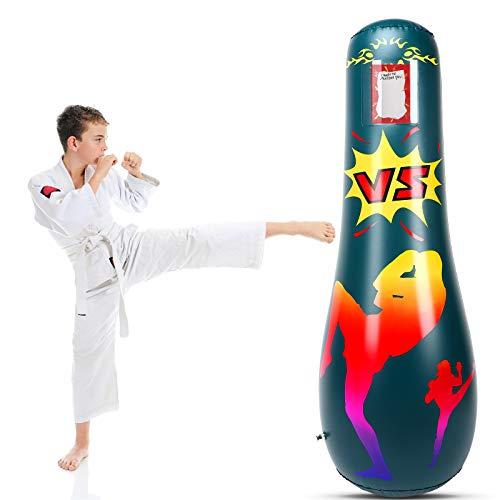MoKo Inflatable Punching Bag, Punching Bag for Kids Adults Free Standing Boxing Bag Kids Punching Bag Fitness Punching…