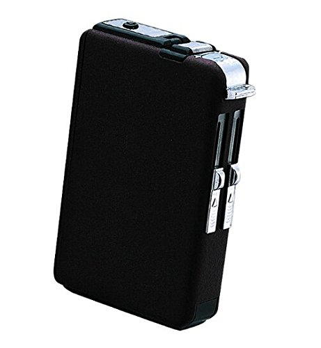 Windproof Refillable Butane Gas Lighter Cigarette Case with Built-in - High Cigarette Case Quality