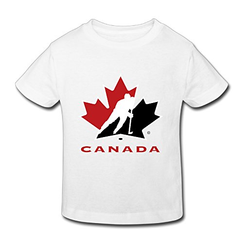 Iseow Toddler's 2016 World Cup Of Hockey Canada 1 Street Wear Kids Boys Girls Short Sleeves Cotton T Shirt Size 2 Toddler White
