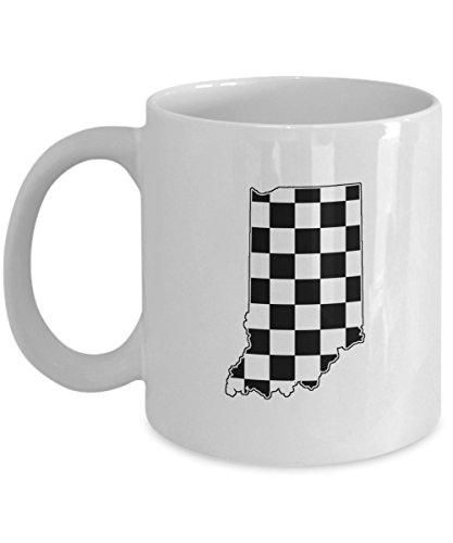 Indy Racing Flags - Indiana Indy Racing Checked Flag Coffee Mug