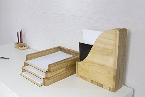 Paper Storage Desk, Desk Organizer Wood, Paper Storage, File Organizer, Magazines Holder, Magazines Rack, Paper Storage Wood, Paper Sorter by Promi Design (Image #5)