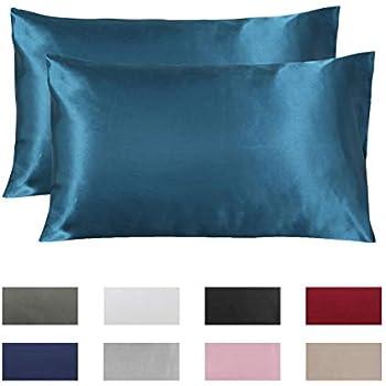 Amazon Com Omelas 2 Pack King Silk Satin Pillowcases For