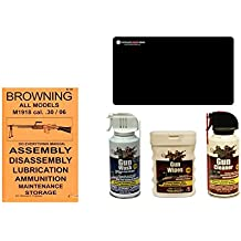 Browning BAR M1918 .30/06 Do Everything Manual + Ultimate Arms Gear Gun Cleaner Spray + Wash + Wipes + Cleaning Work Mat