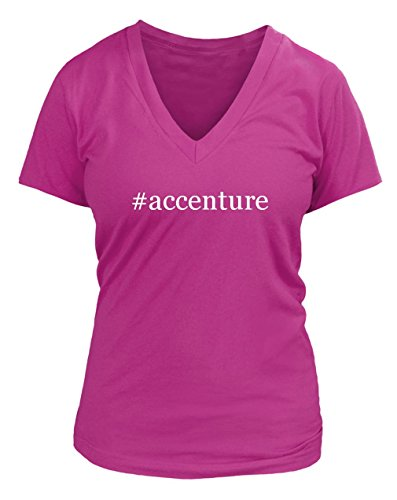 accenture-hashtag-juniors-cut-womens-v-neck-t-shirt-various-sizes-colors-fuchsia-small