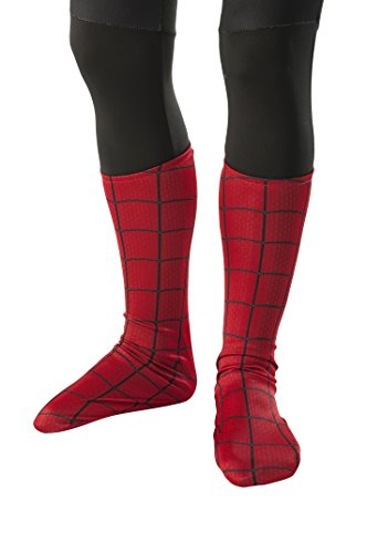 Spider Man New Costumes Comic (Rubie's The Amazing Spider-man 2 Costume Boot-Tops, Child Size)