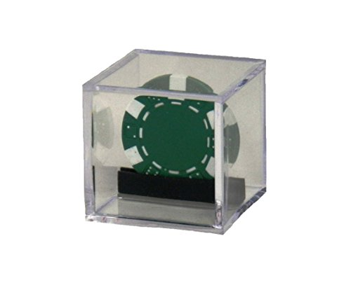 Clear Display Box Case with Casino Chip or Poker Chip Holder for any Collectible Chip