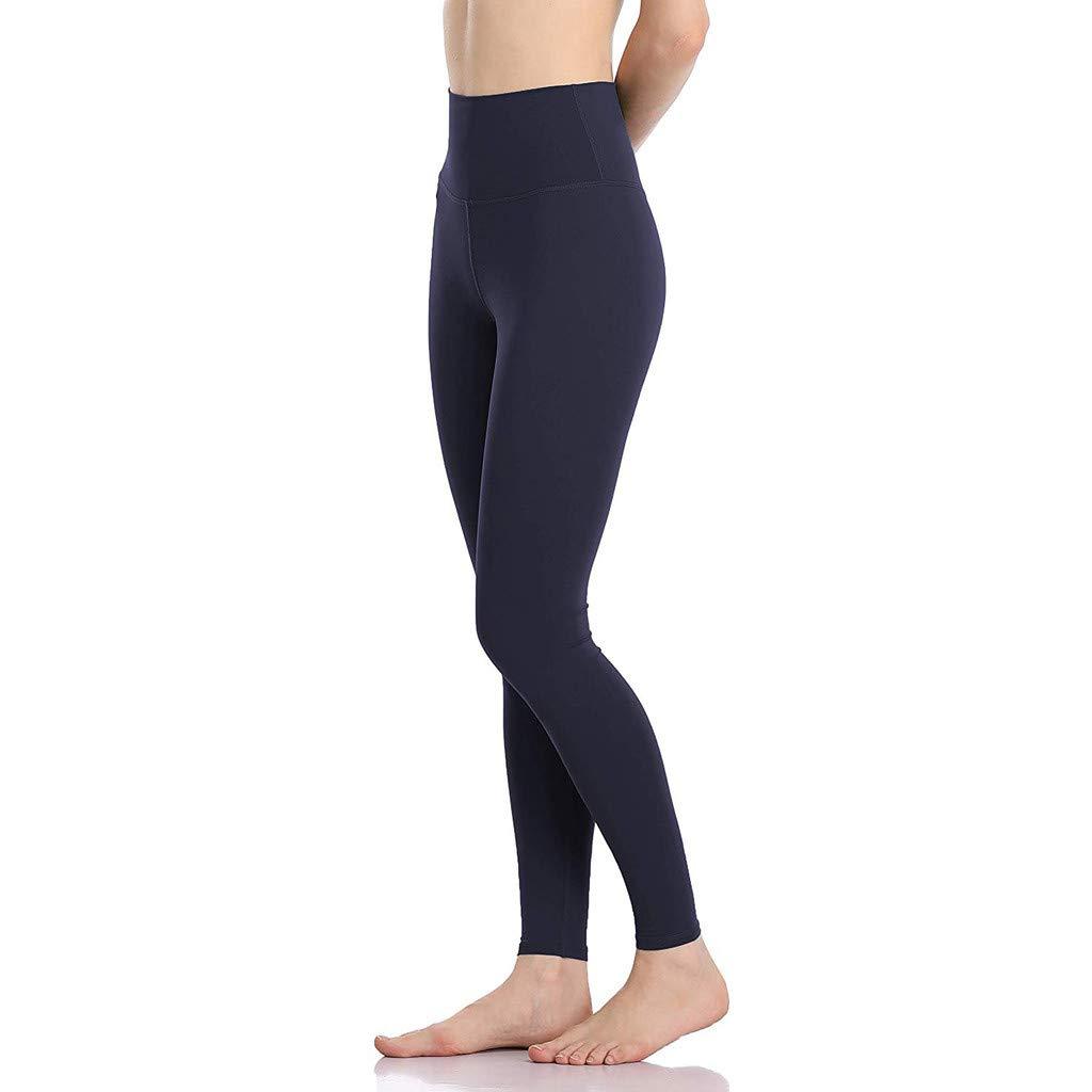 Women/'s Yoga Capris Power Flex Running Pants Workout Leggings High Waist Power Flex Tummy Control Shapewear Leggings