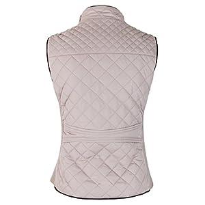 makeitmint Women's Basic Solid Quilted Padding Jacket Vest w/Pockets [S-3XL] YJV0002-LTBLUSH-LRG