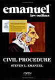 Combo : Civil Procedure Outline Studydesk Ed, Emanuel, Steven, 0735571465