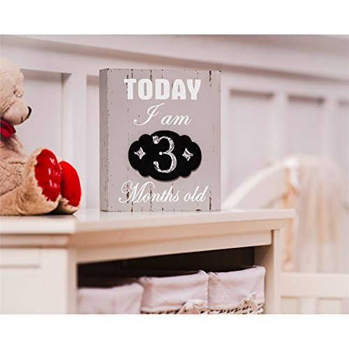 B. Boutique Today I Am Months Chalkboard Wooden (Month Plaque)